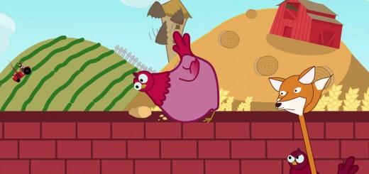 une poule sur un mur comptine enfant